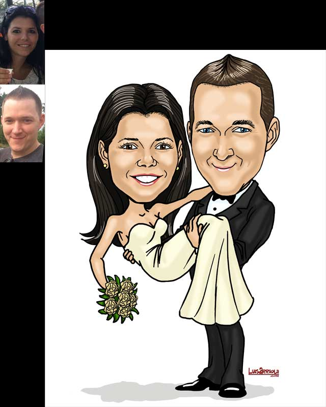 Bride Groom Caricature Gift Order Online Now