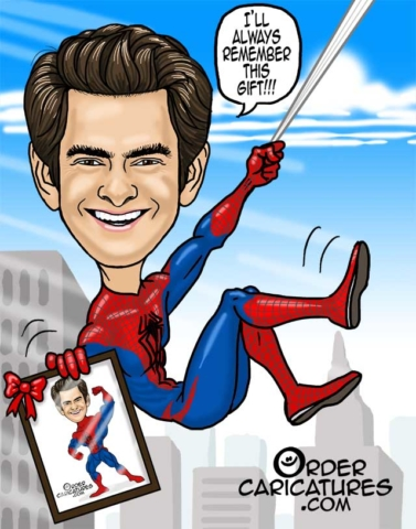 Andrew Garfield - Spiderman caricature