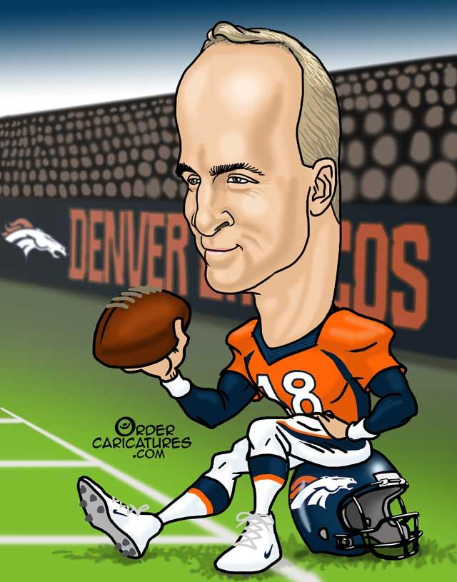 Peyton Manning caricature