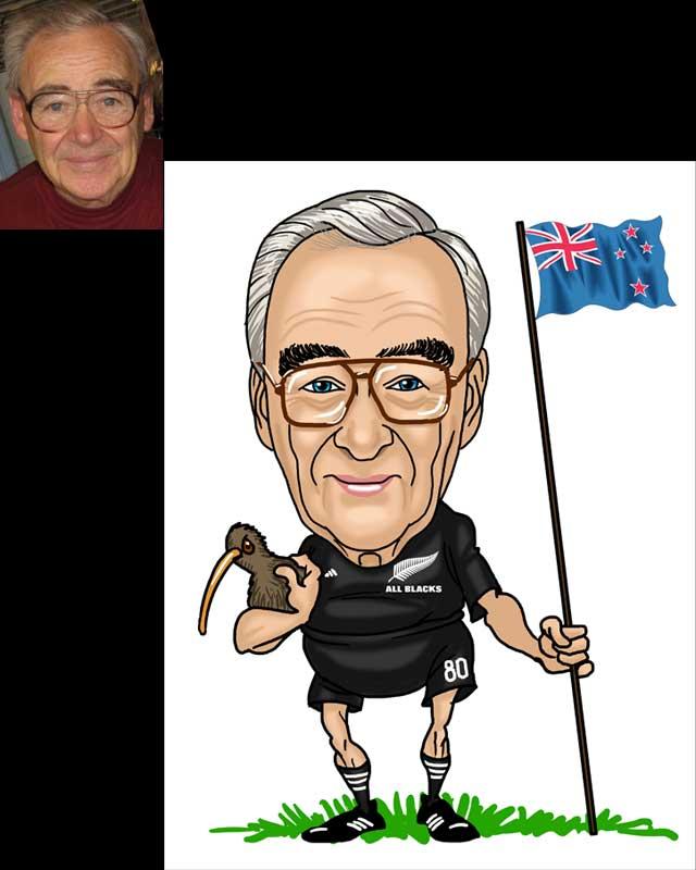 retirement caricature by luis arriola