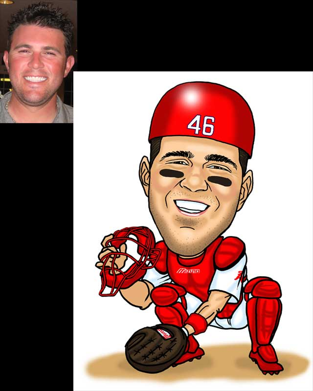 sports caricature by luis arriola