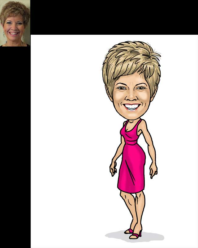 birthday caricature by luis arriola
