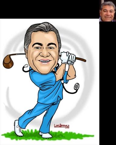 retiring doctor caricature