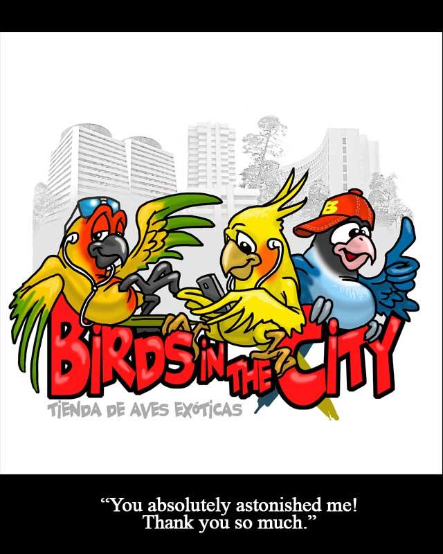 birds caricature logo