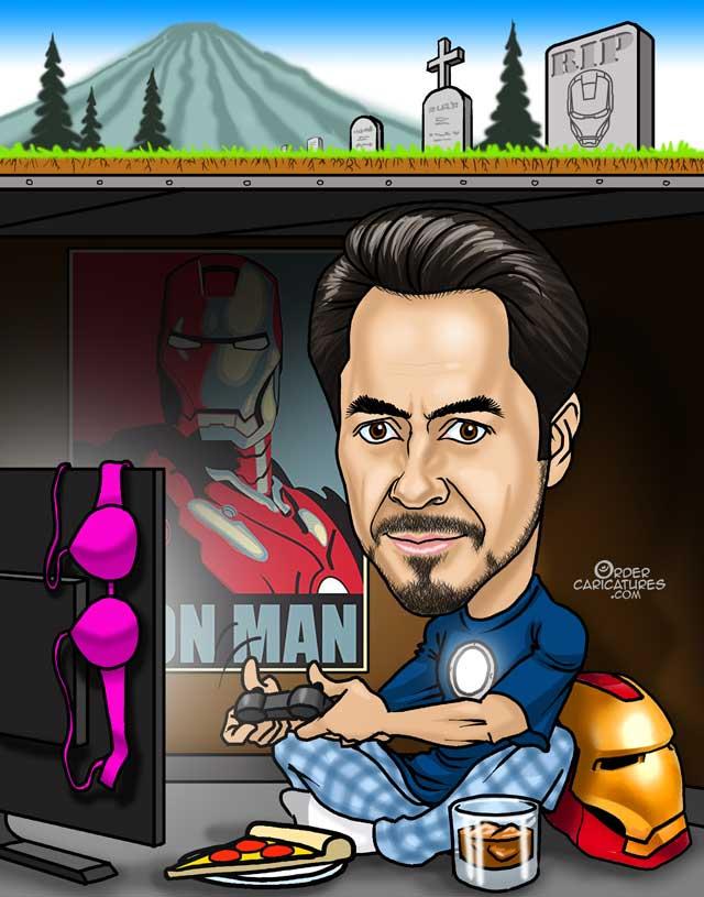 ironman-caricature