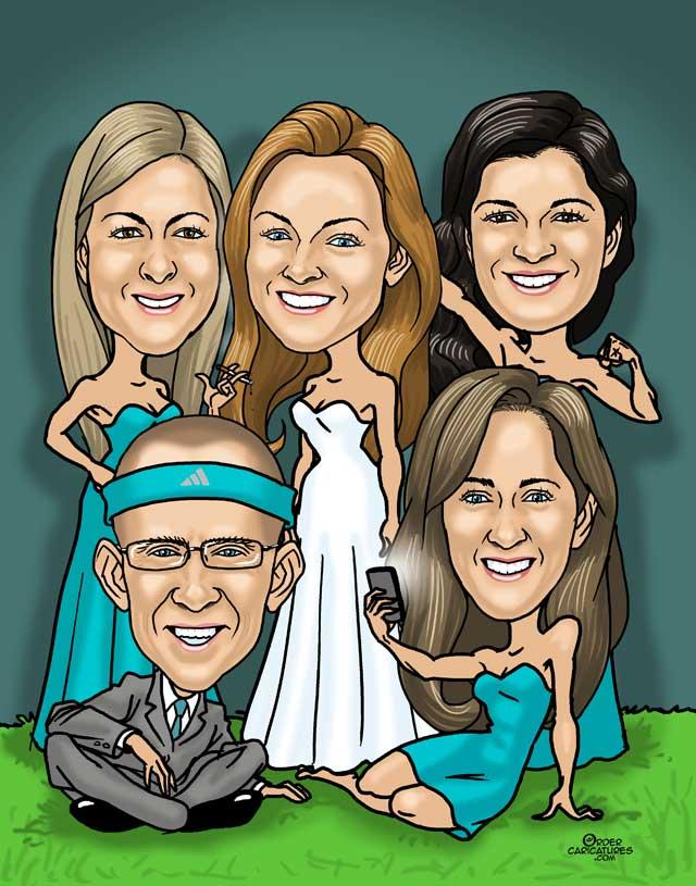 aqua-bridesmaids