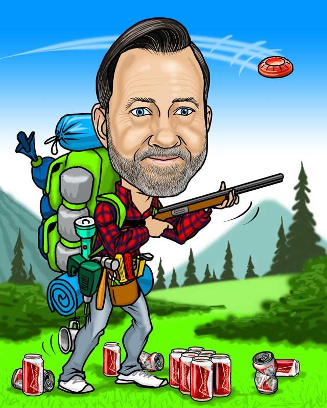 hunter retirement caricature