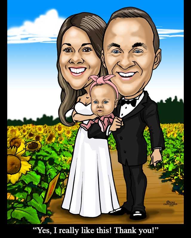sunflowers-bride-groom
