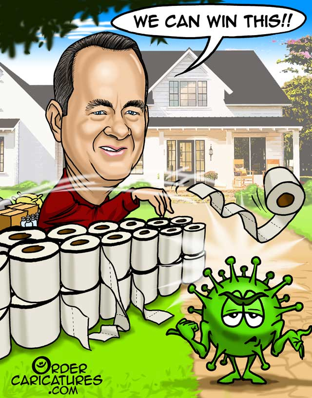 Tom-Hanks-corona-virus-caricature