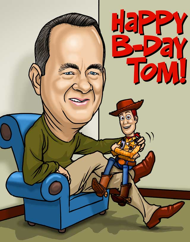 birthday caricature