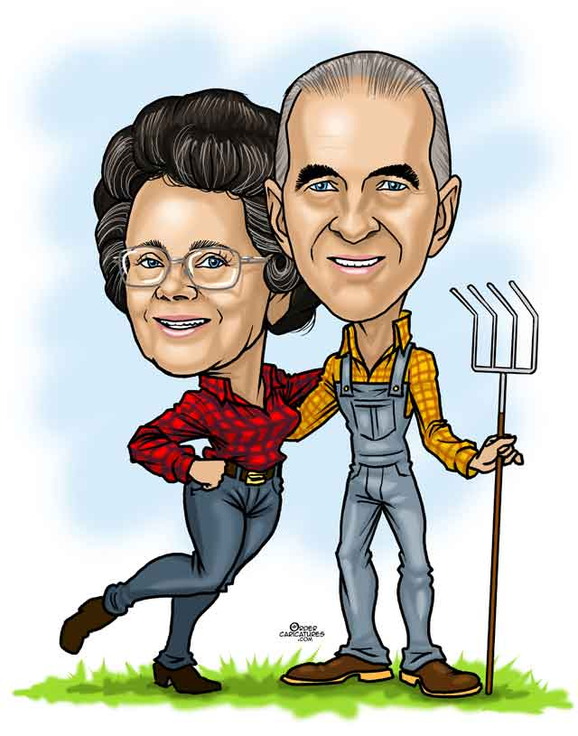 couple caricature