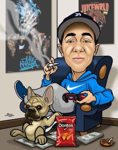 birthday caricature