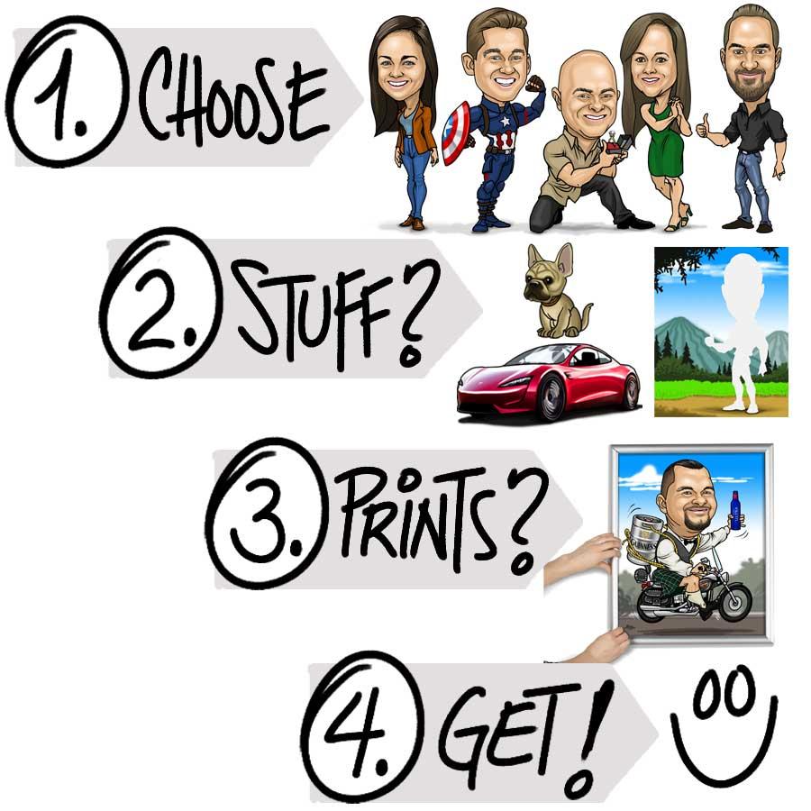 order caricatures