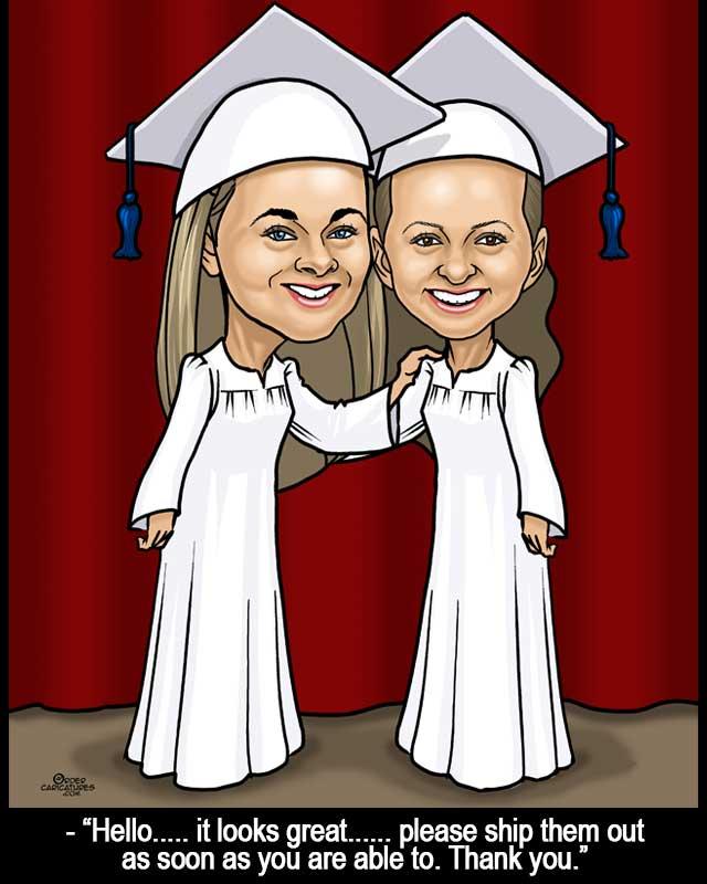 graduation caricature