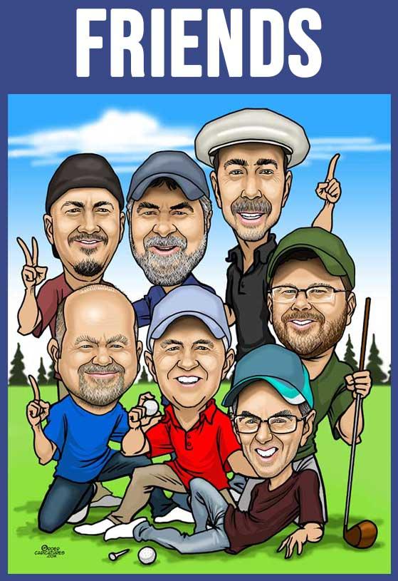 friends caricature