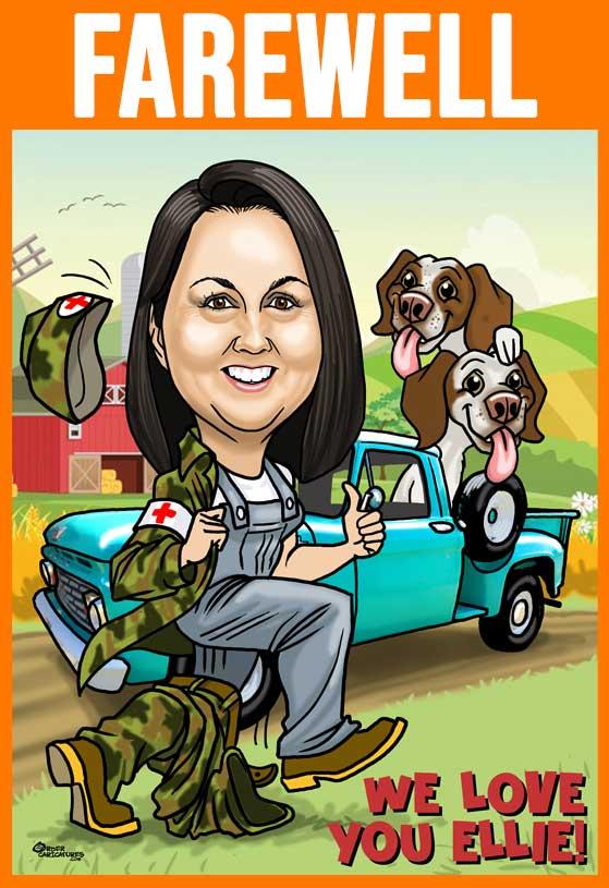 farewell caricature